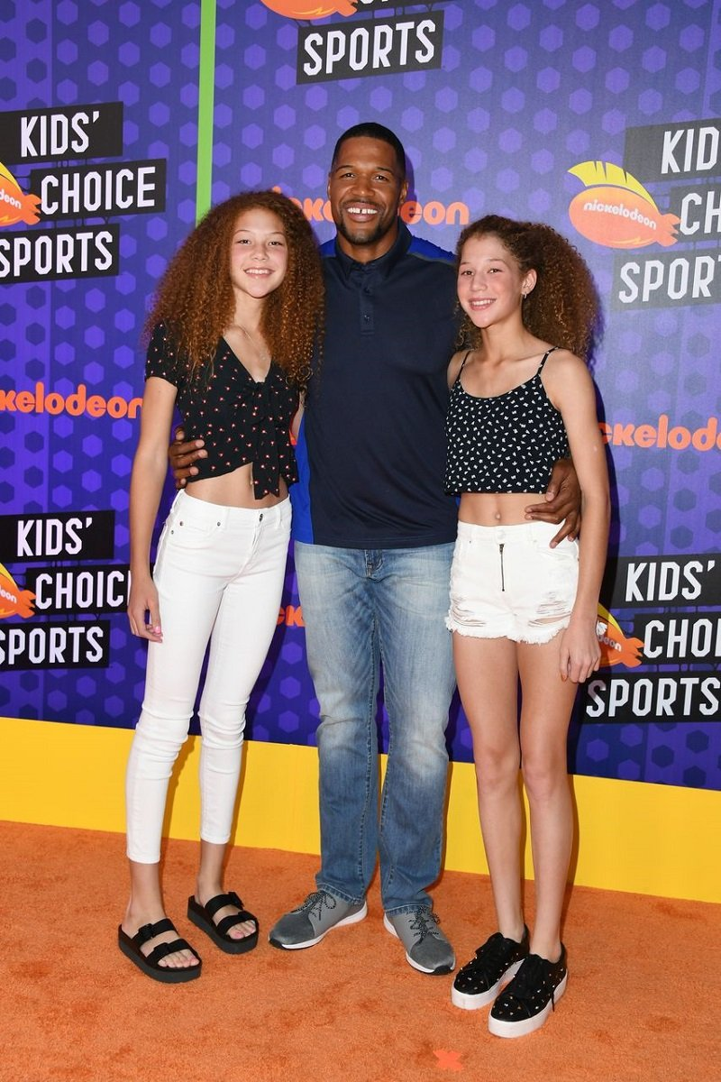 Michael, Isabella and Sophia Strahan attending the Nickelodeon Kids' Choice Sports 2018 at Barker Hangar in Santa Monica, California in July 2018. I Image: Getty Images.