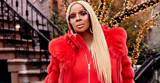 Mary J Blige Shows Holiday Spirit in Skin-Tight Red Jumpsuit & Fur Coat