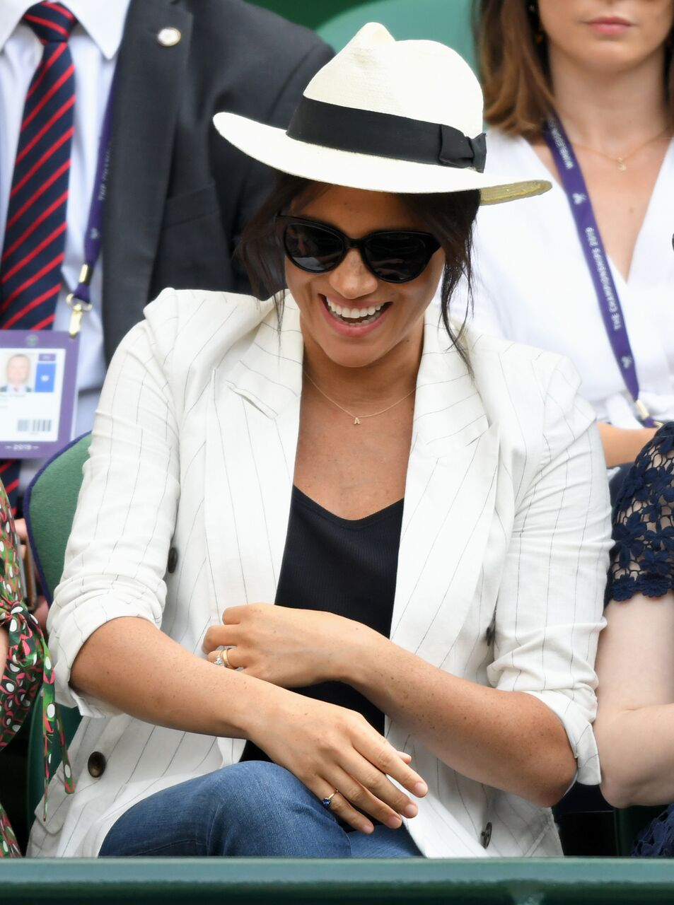 Meghan Markle at Wimbledon. | Source: Getty Images