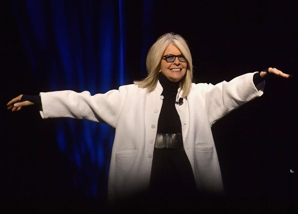 Diane Keaton speaks onstage at CinemaCon 2019 The State of the Industry and STXfilms Presentation, April 2019 | Source: Getty Images