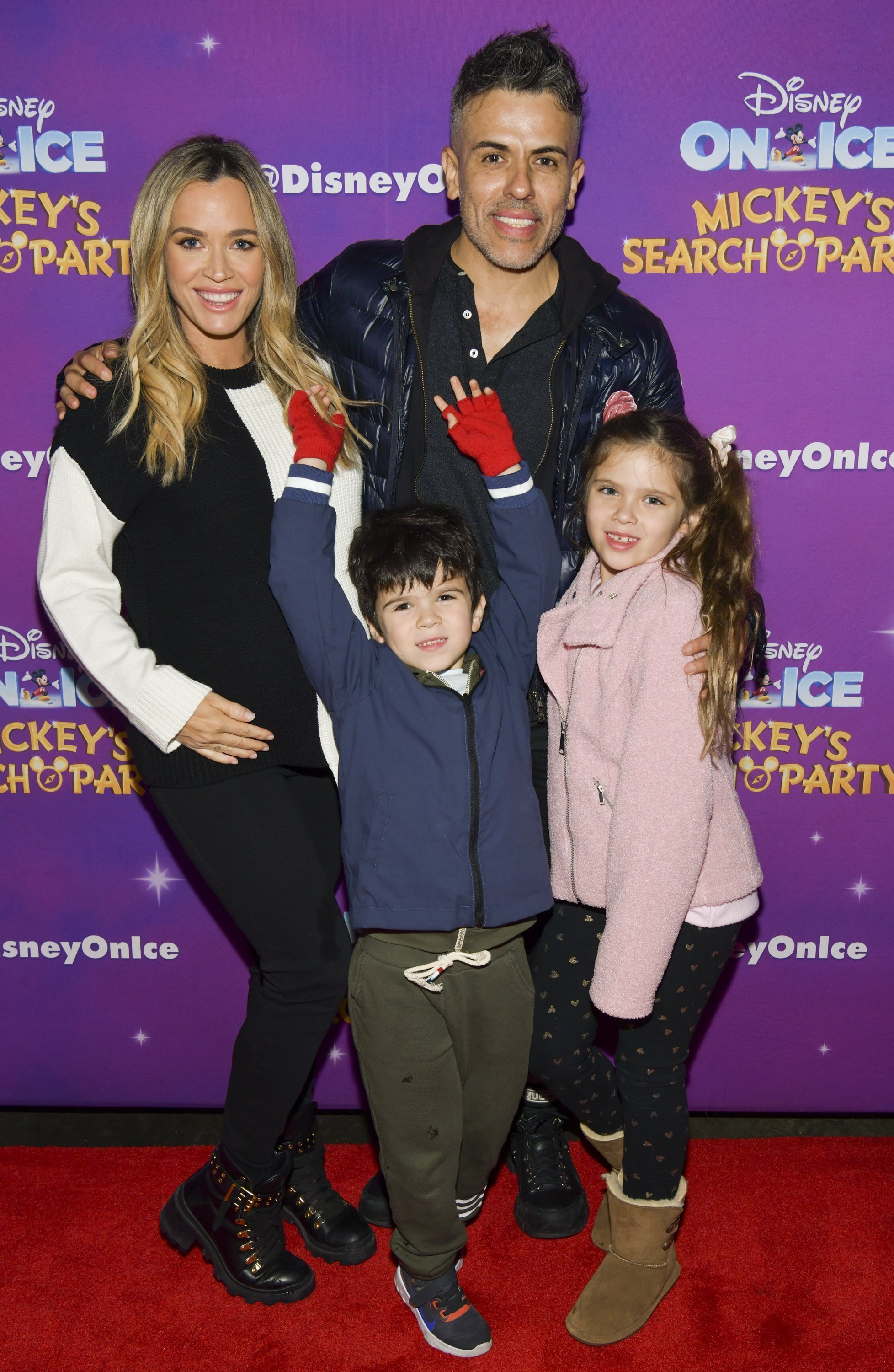 """Teddi Mellencamp, Cruz Arroyave, Edwin Arroyave, and Slate Arroyave attend 2019 Disney On Ice """"Mickey's Search Party"""" on December 13, 2019, in Los Angeles, California. 