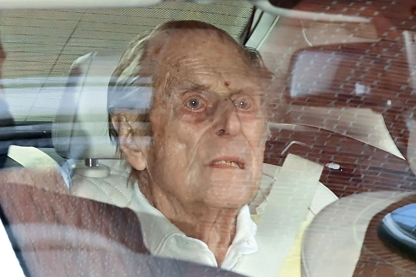 Prince Philip traveling from King Edward VII's Hospital in central London on March 16, 2021. | Getty Images