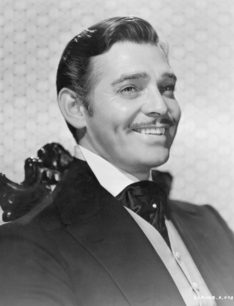 """Clark Gable filming """"Gone with the Wind"""" in 1939 