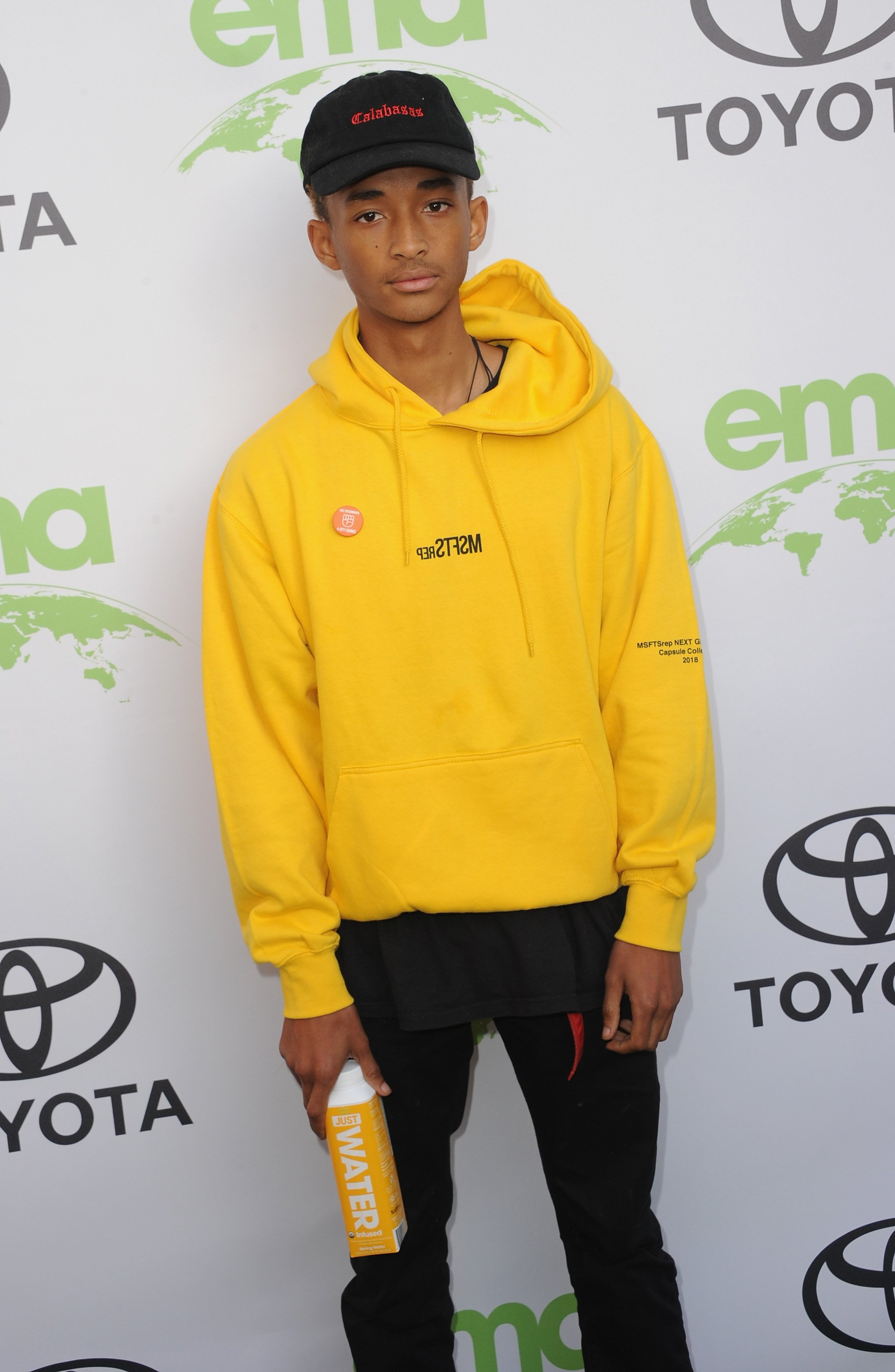 Jaden Smith at the 28th Annual Environmental Media Awards in Beverly Hills, California on May 22, 2018.  Photo: Getty Images