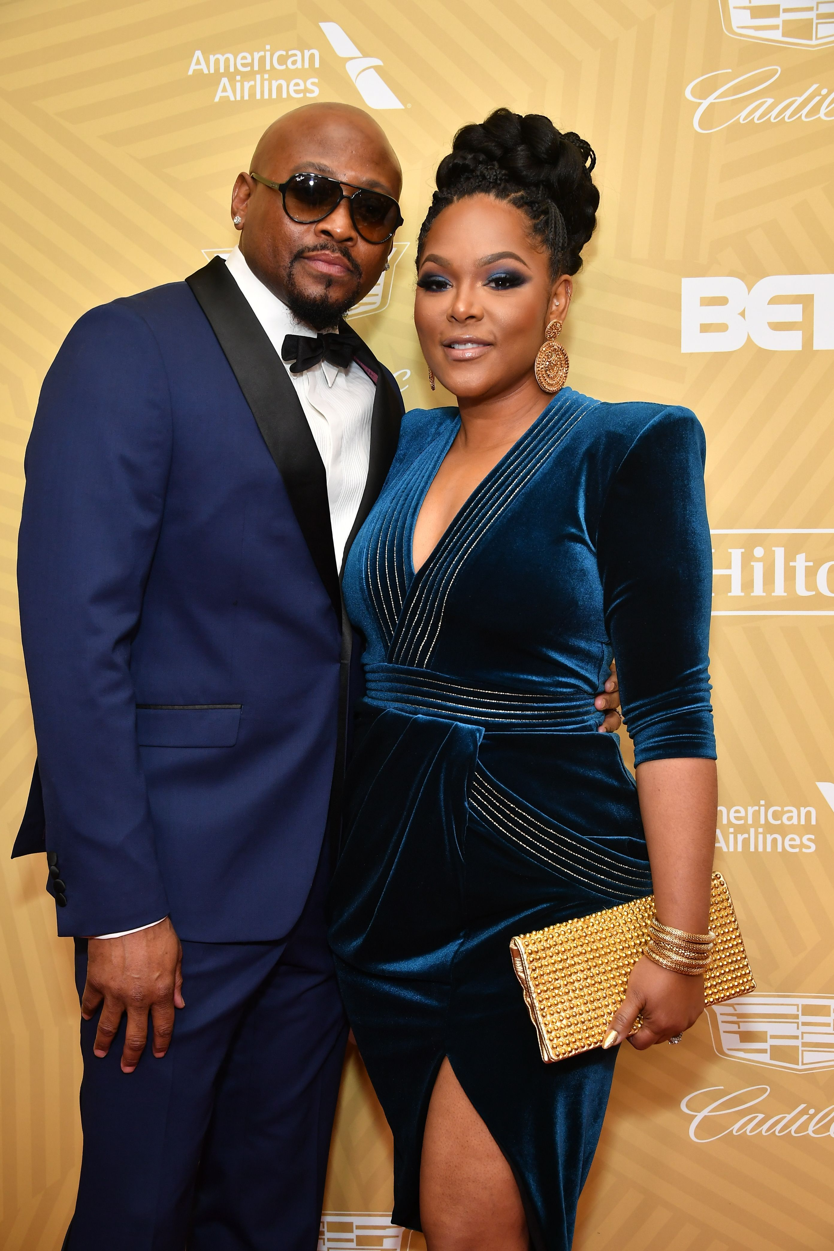 Omar and Keisha Epps attend attend the American Black Film Festival Honors Awards Ceremony at The Beverly Hilton Hotel on February 23, 2020.   Photo: Getty Images
