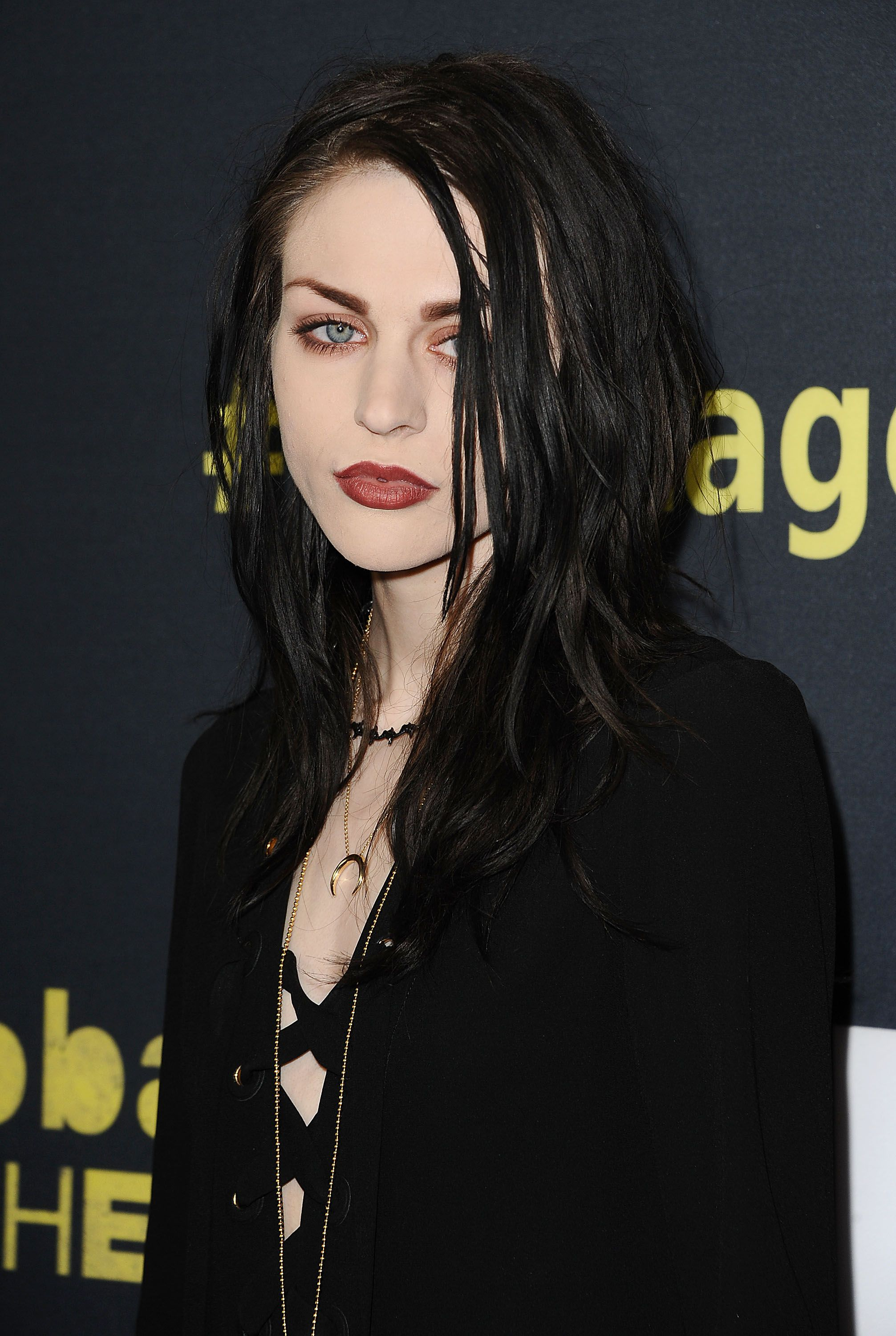 """Frances Bean Cobain at the premiere of """"Kurt Cobain: Montage Of Heck"""" in 2015 in Hollywood, California 