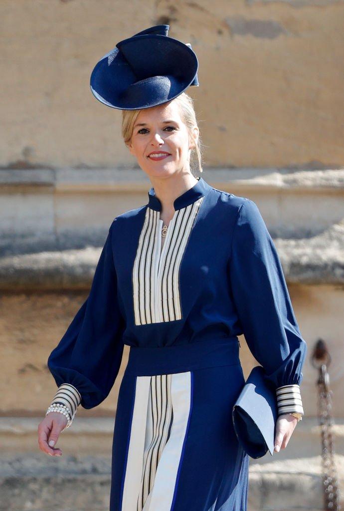 Sophie Carter asiste a la boda del príncipe Harry con Meghan Markle en la Capilla de St George, Castillo de Windsor | Imagen: Getty Images