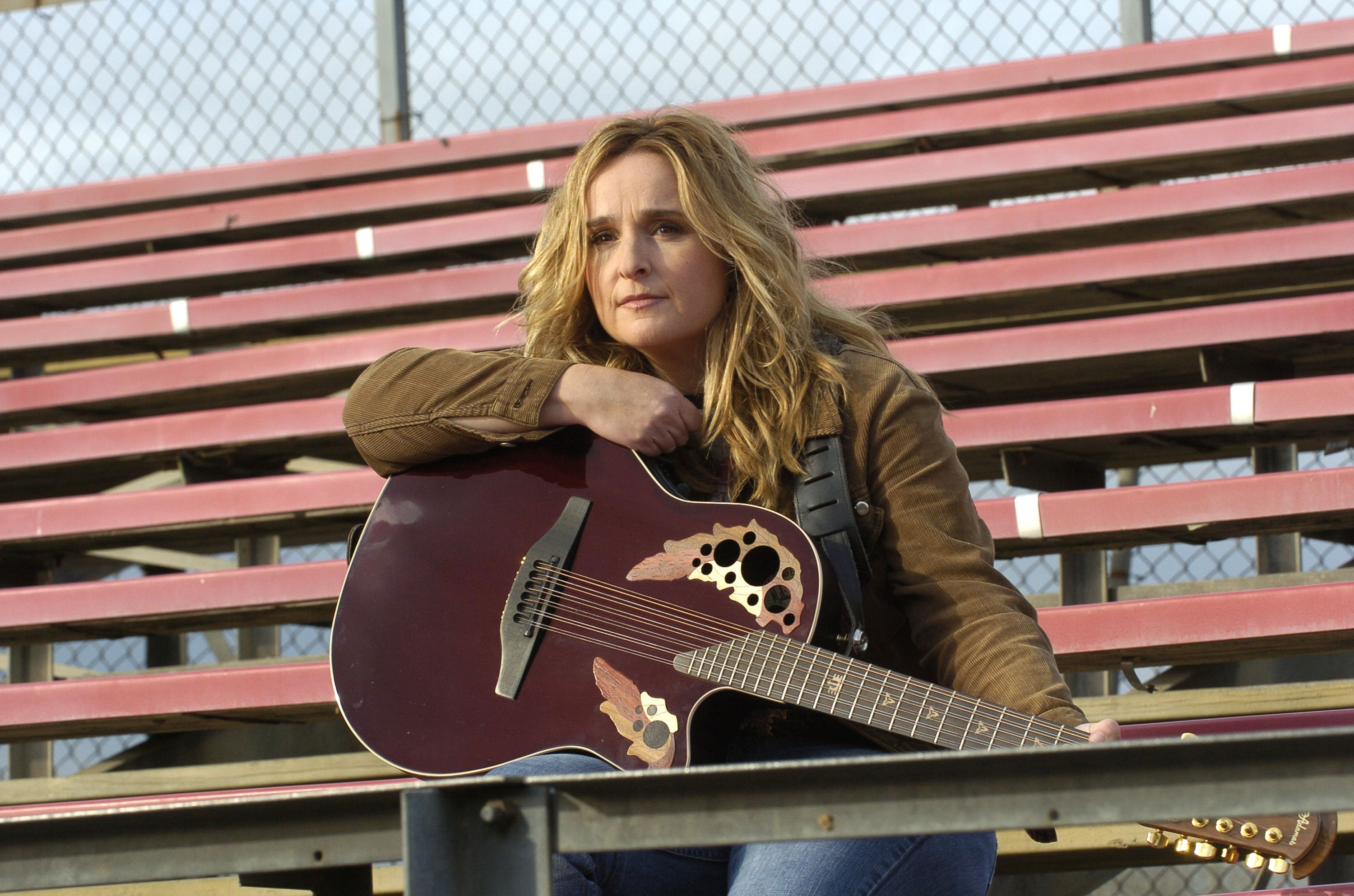 "Still images from Melissa Etheridge's music video for her single ""Breathe"" on December 10, 2003 