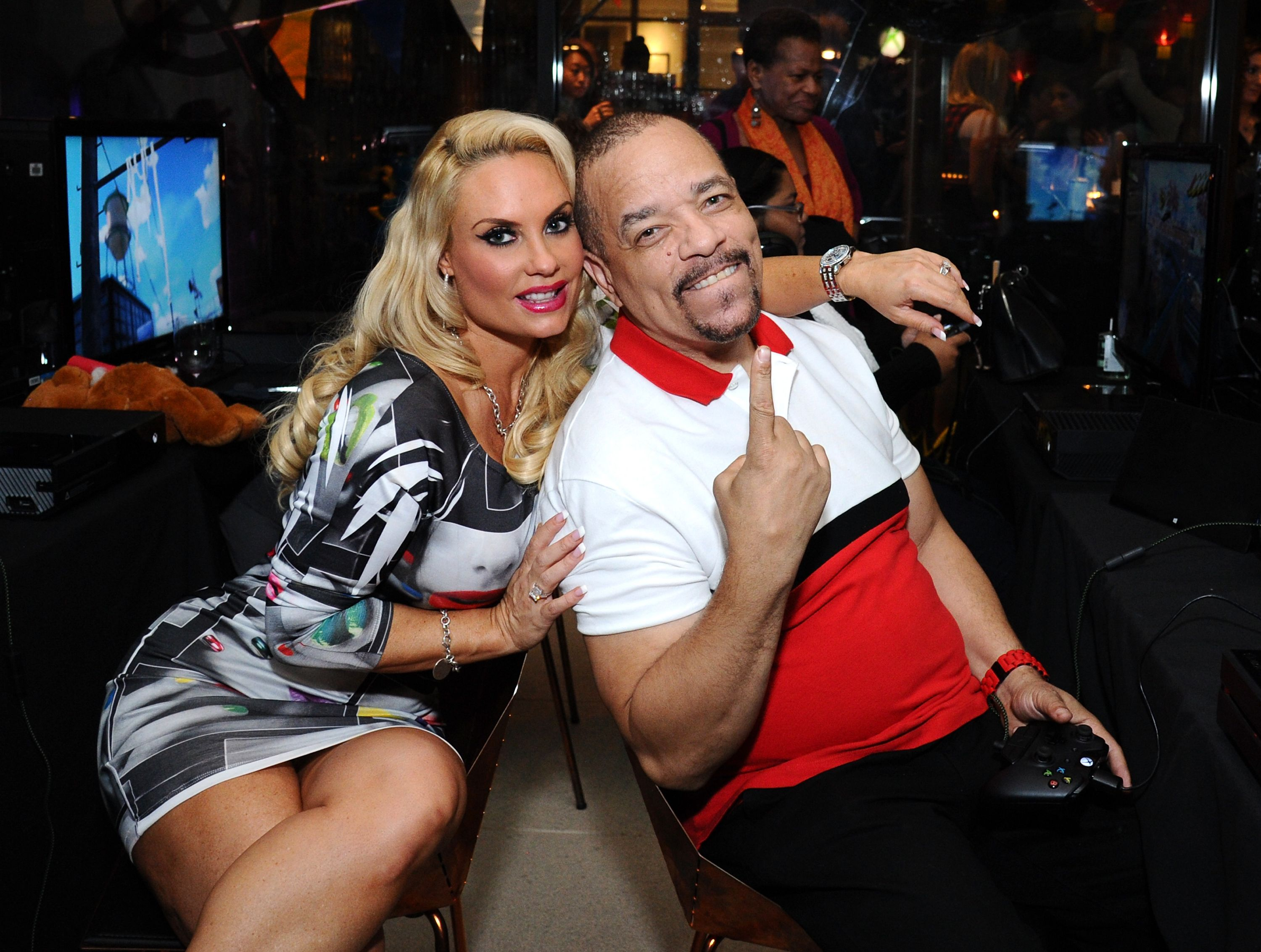 Ice-T and Coco Austin at the launch of Sunset Overdrive at the XboxOne Loft on October 27, 2014 | Photo: Getty Images