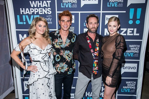 Madchen Amick, KJ Apa, Luke Perry and Lili Reinhart from Riverdale | Photo: Getty Images