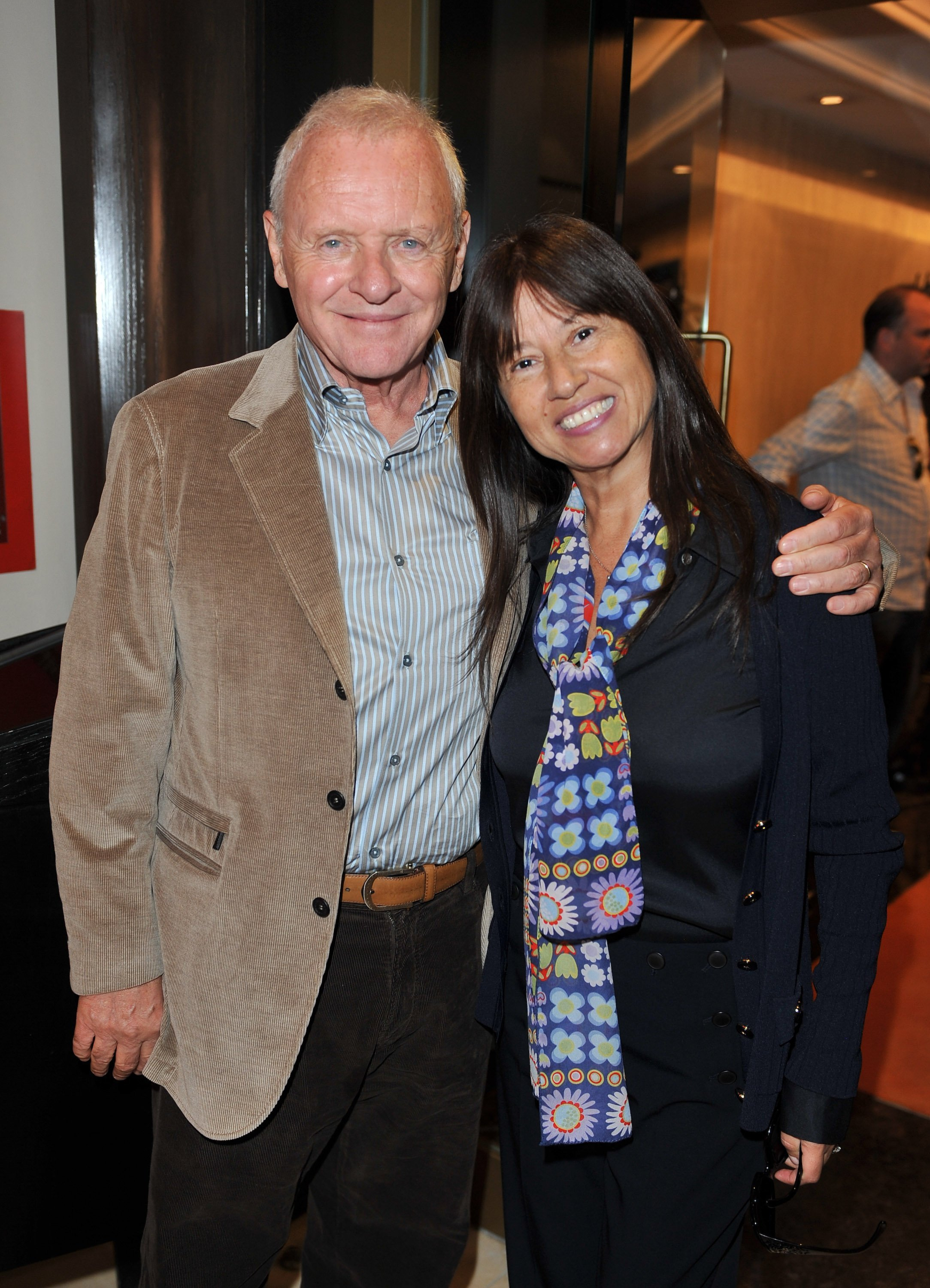 Anthony Hopkins and Stella Arroyave attend the George Christie Luncheon at the Four Seasons Hotel on September 11, 2010, in Toronto, Canada. | Source: Getty Images.