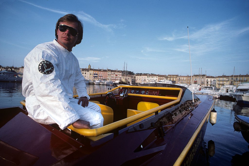 Didier Pironi, Saint Tropez, port de Saint Tropez, Saint-Tropez, France, 21 juillet 1985. | Photo : Getty Images