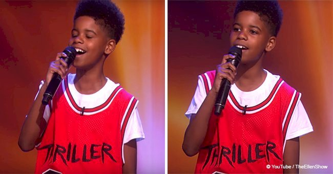 11-year-old boy's voice is so similar to Michael Jackson's that the crowd jumped to their feet