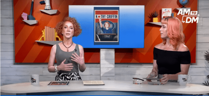 Kathy Griffin speaking about the late Gloria Vanderbilt on AM to DM on July 17, 2019 | Photo: YouTube/AM to DM