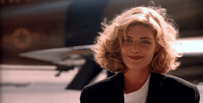 """Kelly McGillis in a scene of """"Top Gun"""" released in 1986 
