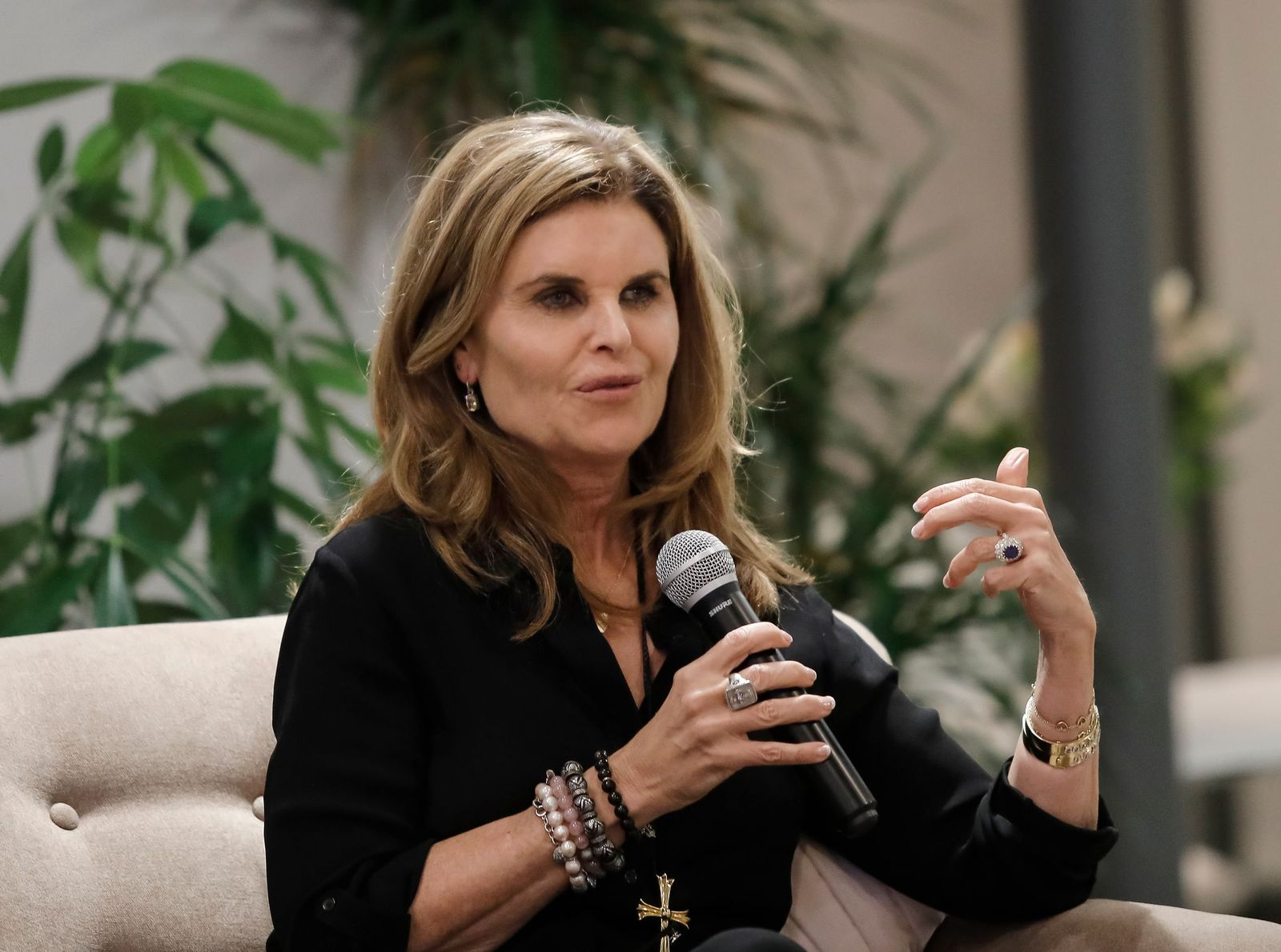Maria Shriver sat down in conversation at The Riveter on January 15, 2019 | Photo: Getty Images