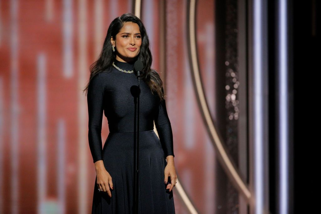 Salma Hayek Pinault spoke at the 75th Annual Golden Globe Awards at The Beverly Hilton Hotel on January 7, 2018 | Photo: Getty Images