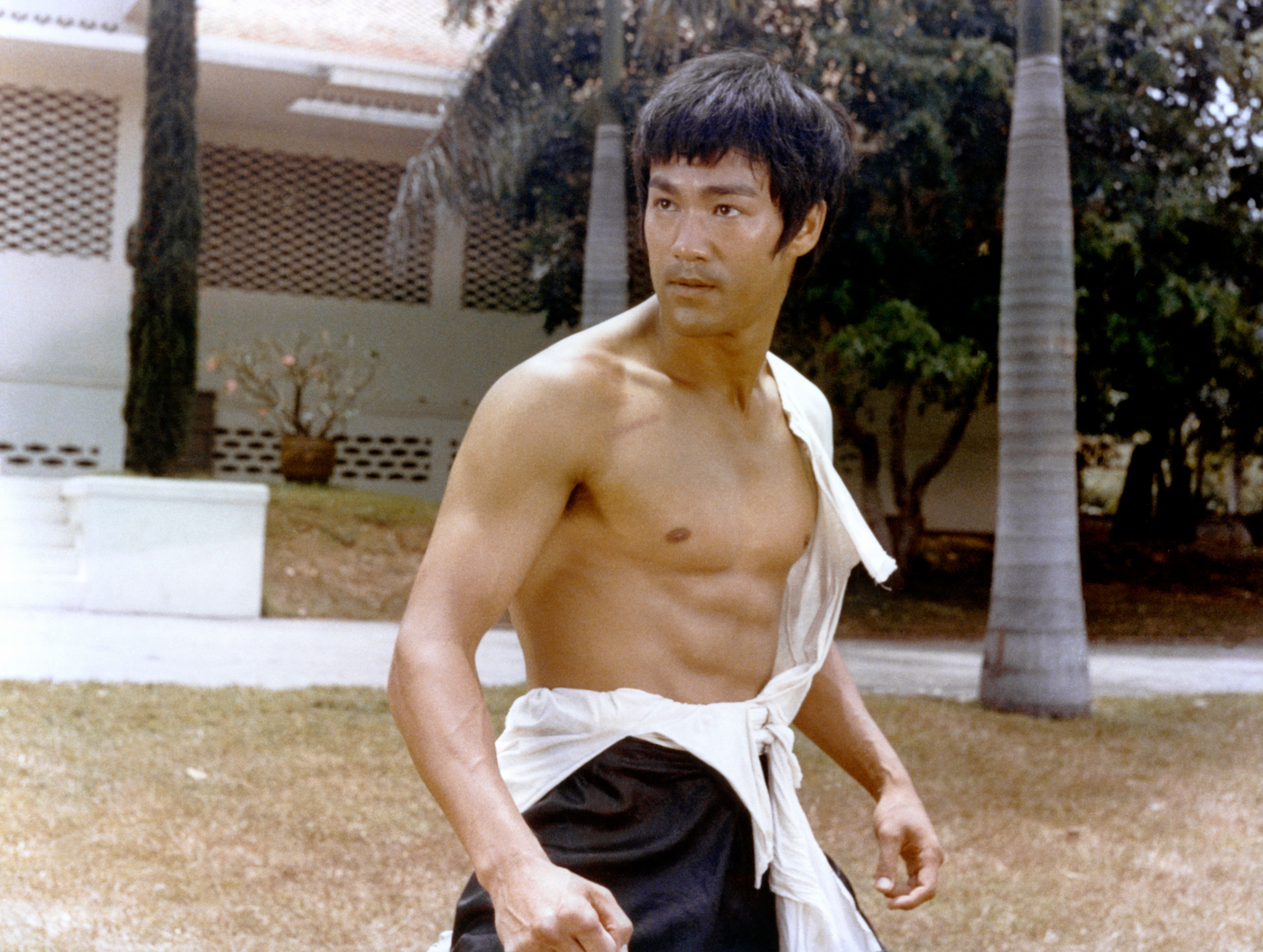 """Actor Bruce Lee on the set of the 1971 film, """"Big Boss"""" 
