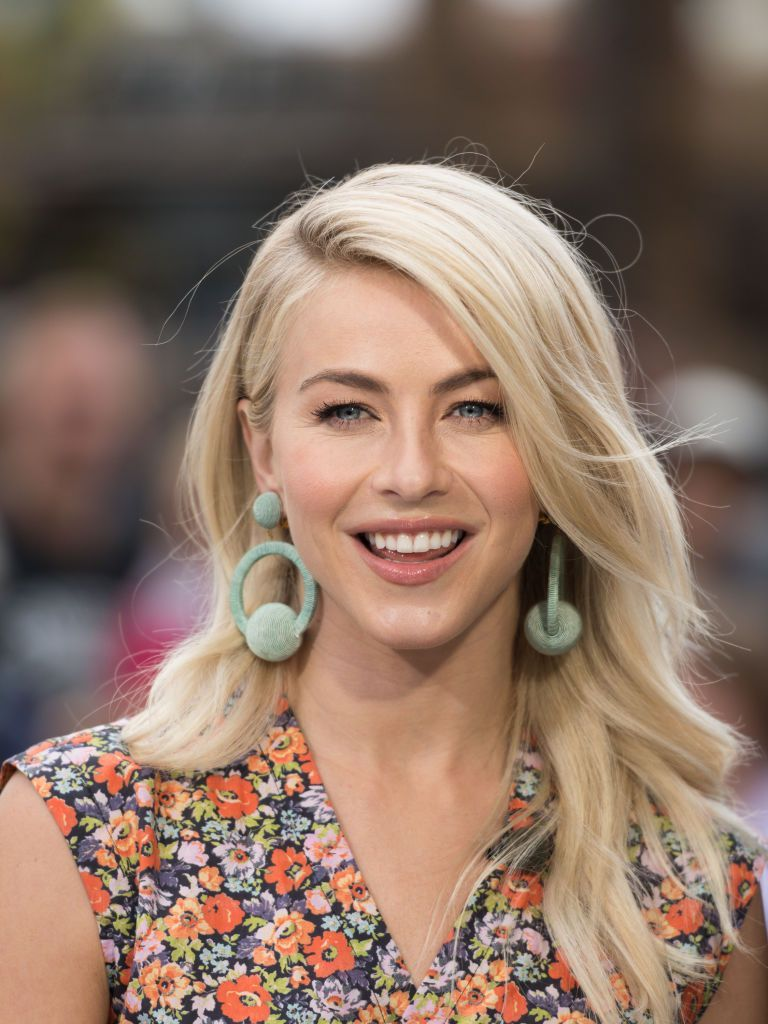 """Julianne Hough at """"Extra"""" at Universal Studios Hollywood on October 3, 2017.   Getty Images"""