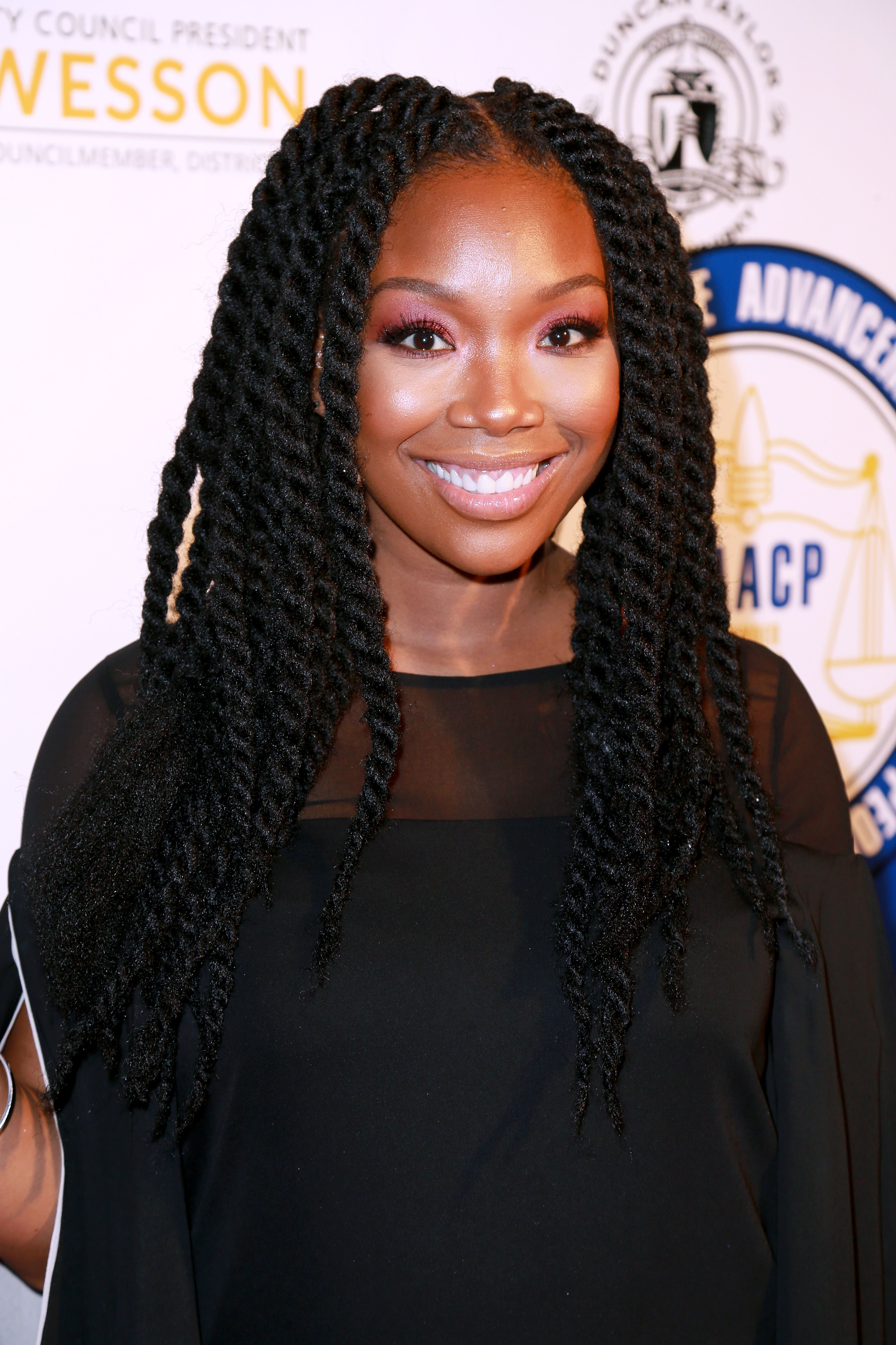 Brandy Norwood during the 27th Annual NAACP Theatre Awards at Millennium Biltmore Hotel on February 26, 2018 in Los Angeles, California. | Source: Getty Images