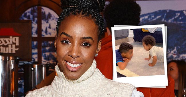 A photo collage of Kelly Rowland and her sons. | Photo: Instagram.com/kellyrowland Getty Images