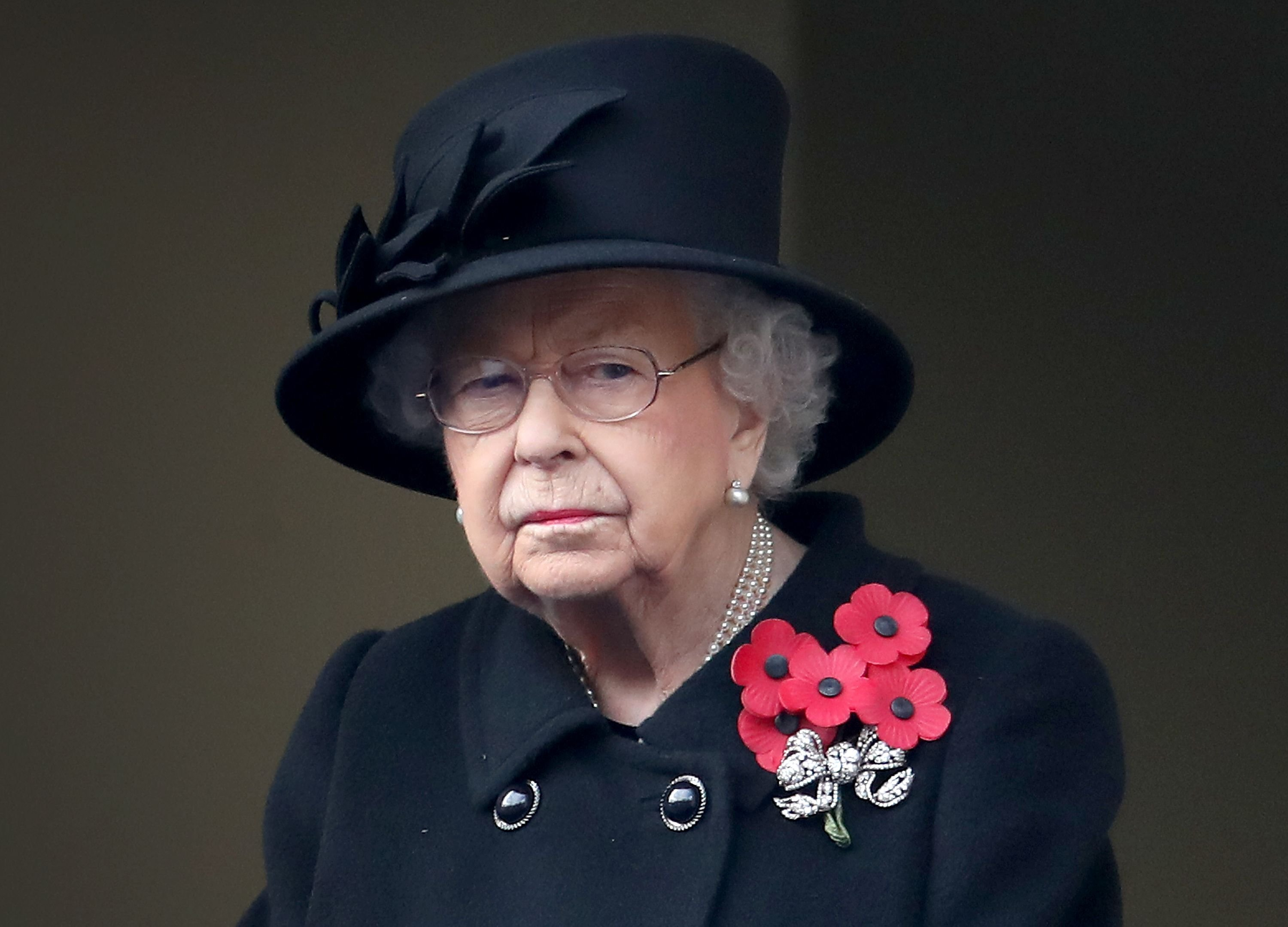 Queen Elizabeth II at the Service of Remembrance at the Cenotaph at The Cenotaph on November 08, 2020  Photo: Getty Images