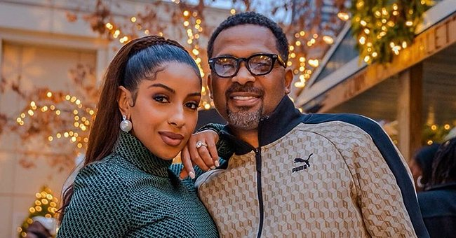 Mike Epps' Wife Kyra Covers Baby Bump in Brown Outfit in Photos