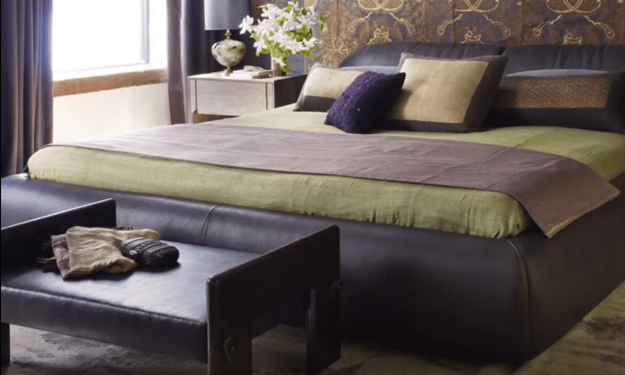 The master bedroom   Source: YouTube/ Architectural Digest