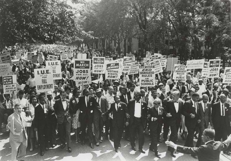 March on Washington DC, August 28, 1963   Source: Wikimedia Commons/ Public Domain
