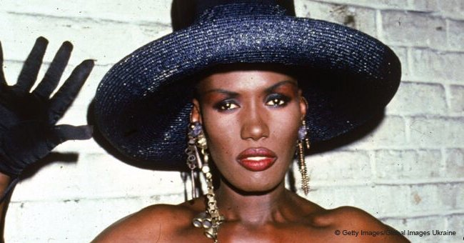 Remember fierce 80s pop icon Grace Jones? She has a handsome son who looks nothing like her