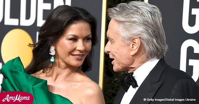 Michael Douglas showered Catherine Zeta-Jones with compliments and spoke on their 18-year marriage
