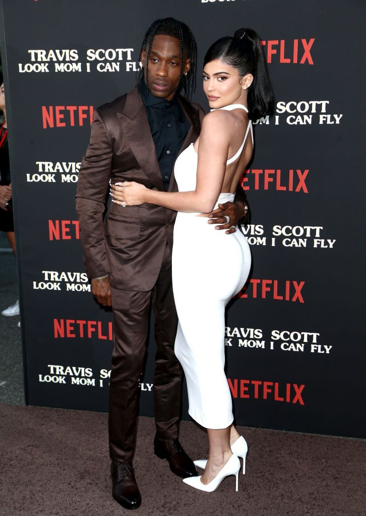 "Travis Scott and Kylie Jenner attend the Travis Scott: ""Look Mom I Can Fly"" Los Angeles Premiere. 