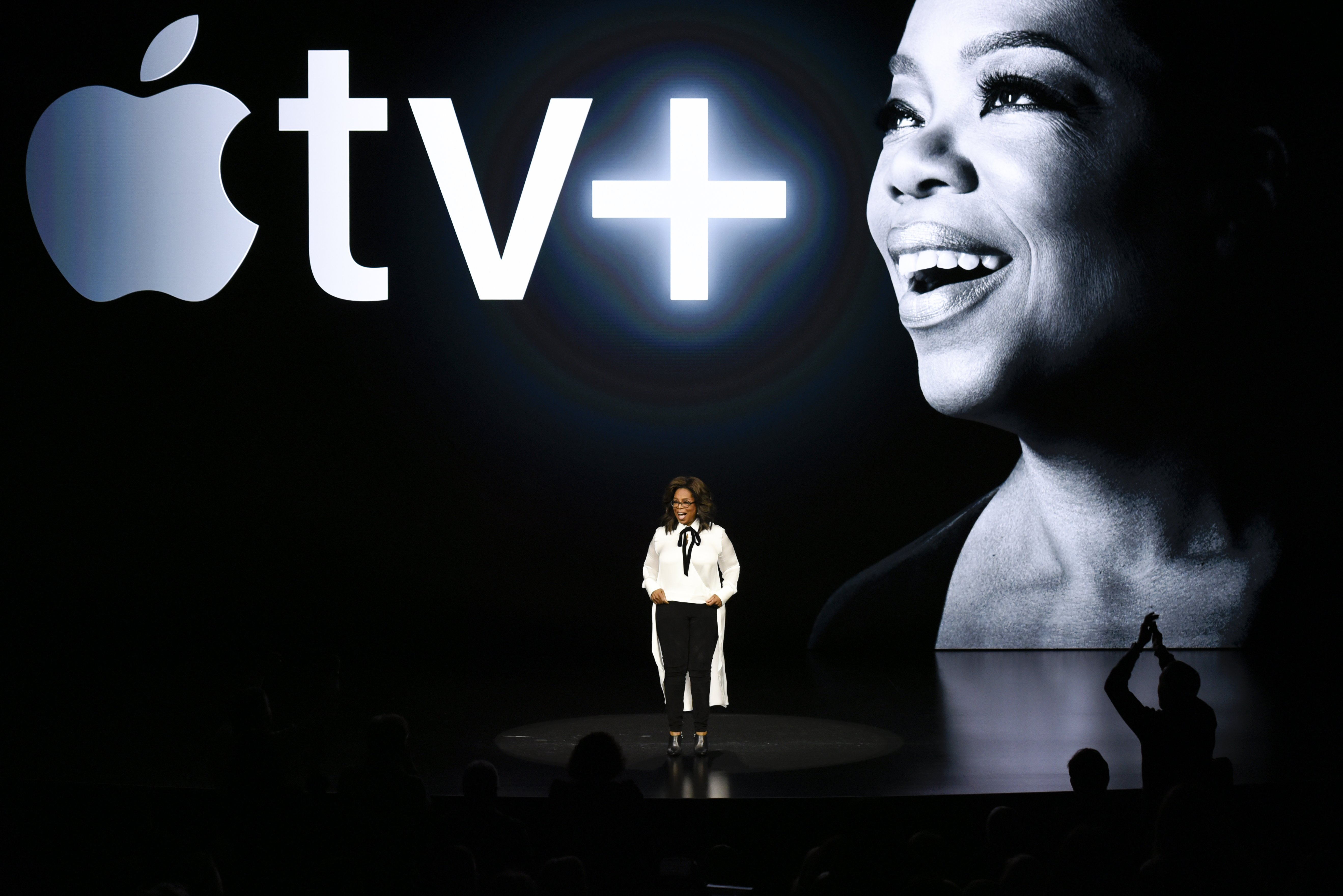 Oprah Winfrey speaks during an Apple product launch event at the Steve Jobs Theater at Apple Park on March 25, 2019 in Cupertino, California | Photo: Getty Images