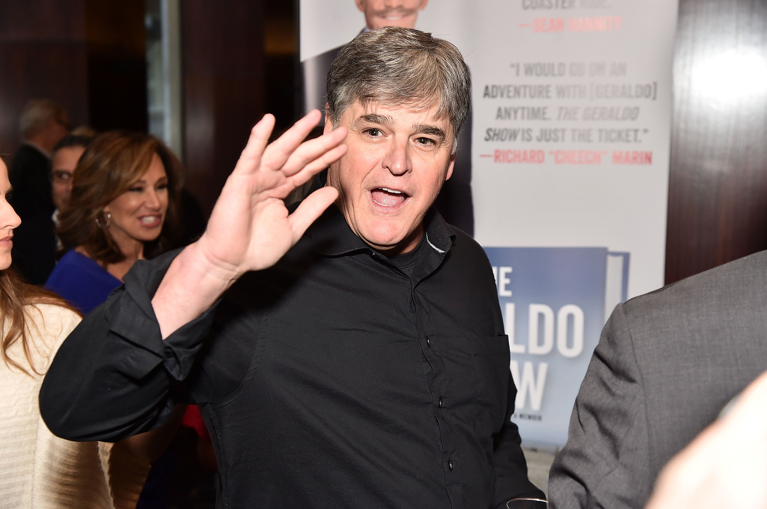 "Sean Hannity attends Geraldo Rivera Launches His New Book ""The Geraldo Show: A Memoir"" at Del Frisco's Grille on April 2, 2018 in New York City. 