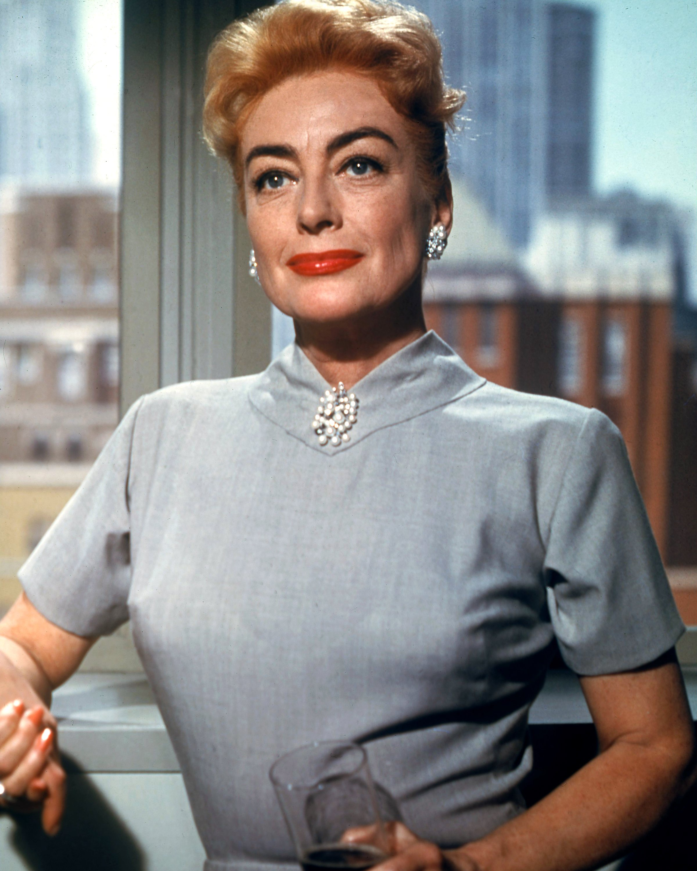 American actress Joan Crawford (1905 - 1977) in a promotional still from 'The Best Of Everything', directed by Jean Negulesco, 1959.   Source: Getty Images