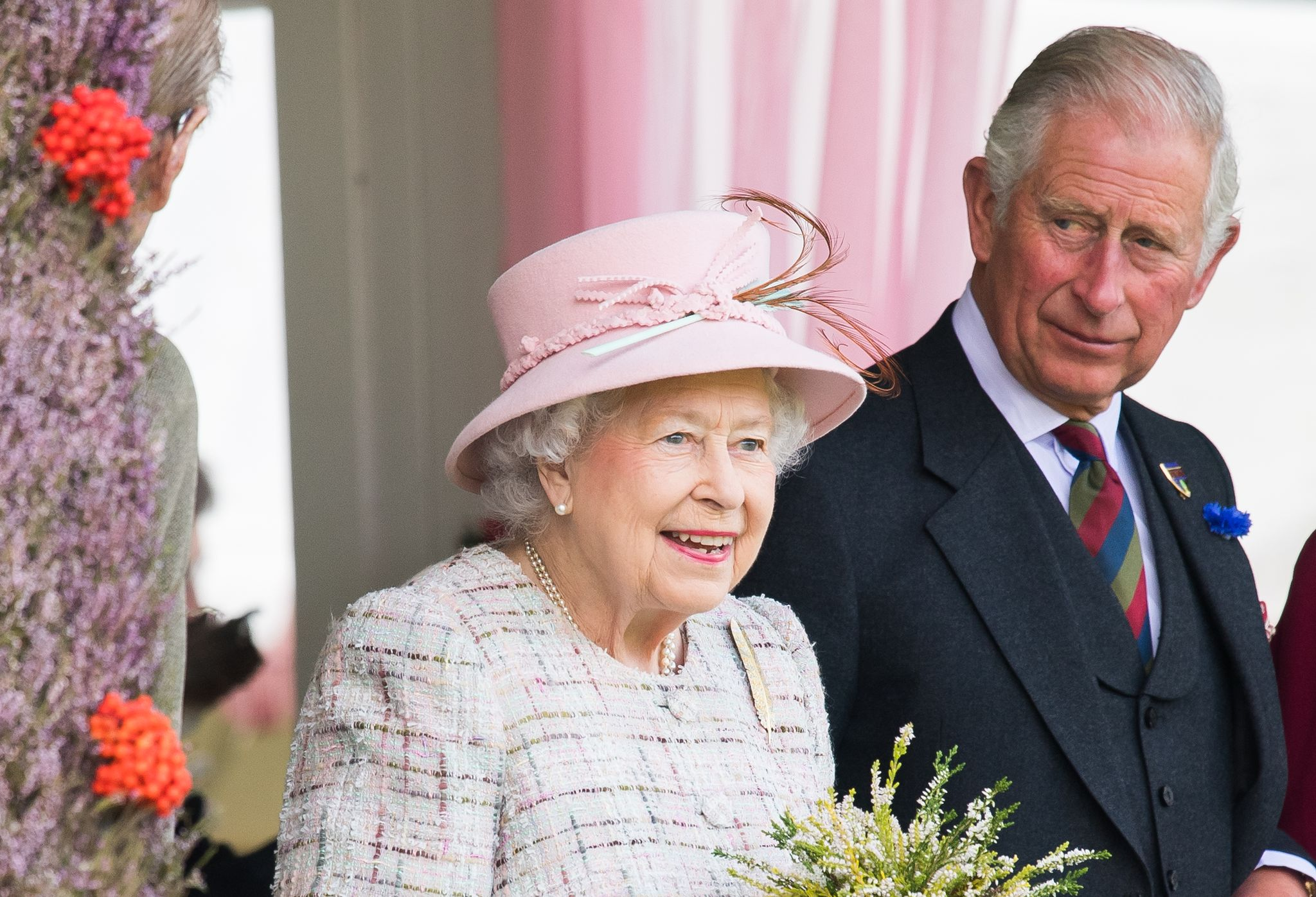 Queen Elizabeth II and Prince Charles at the 2017 Braemar Highland Gathering in Braemar, Scotland | Source: Getty Images