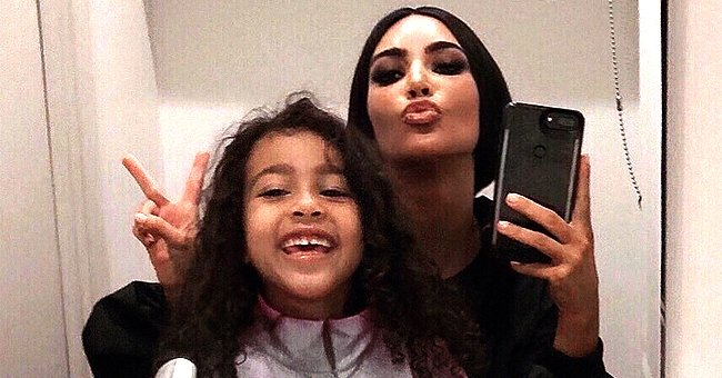 Kim Kardashian from KUWTK & Daughter North Coordinate Dance Moves as They Make Their TikTok Video Debut