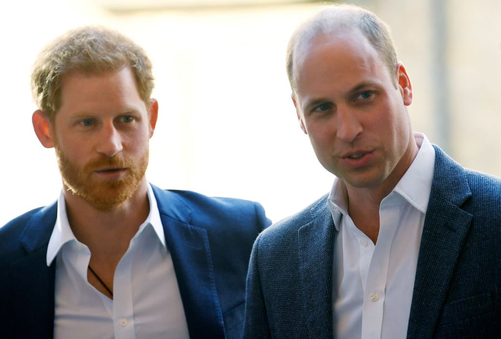 Prince William, Duke of Cambridge and Prince Harry attend the opening of the Greenhouse Sports Centre on April 26, 2018 in London | Photo: GettyImages