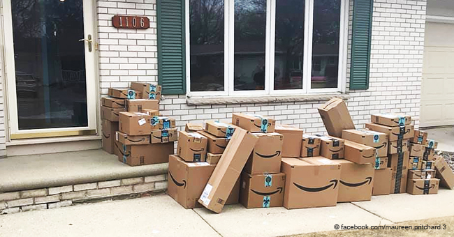 Woman Saved All Her Amazon Boxes to Prank Her Husband and His Reaction Is Priceless