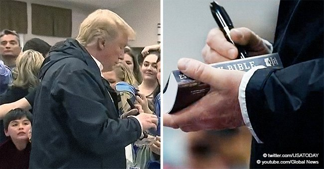 Donald Trump Signing Bibles during His Alabama Visit Sparks Controversy between Religious Leaders
