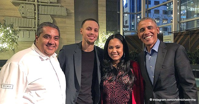 Barack Obama enjoyed an evening without Michelle at a restaurant full of celebrities