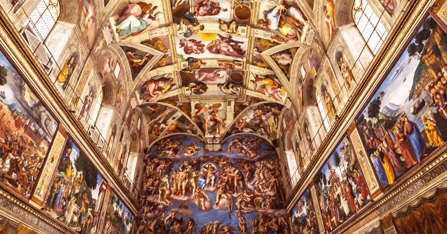Daily Joke: Young Woman Takes Her Grandma to See the Beautiful Sistine Chapel in the Vatican