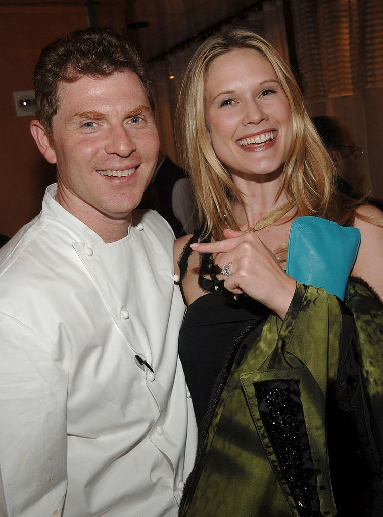 Bobby Flay and Stephanie March at the opening of Bar Americain in 2005 in New York City   Source: Getty Images
