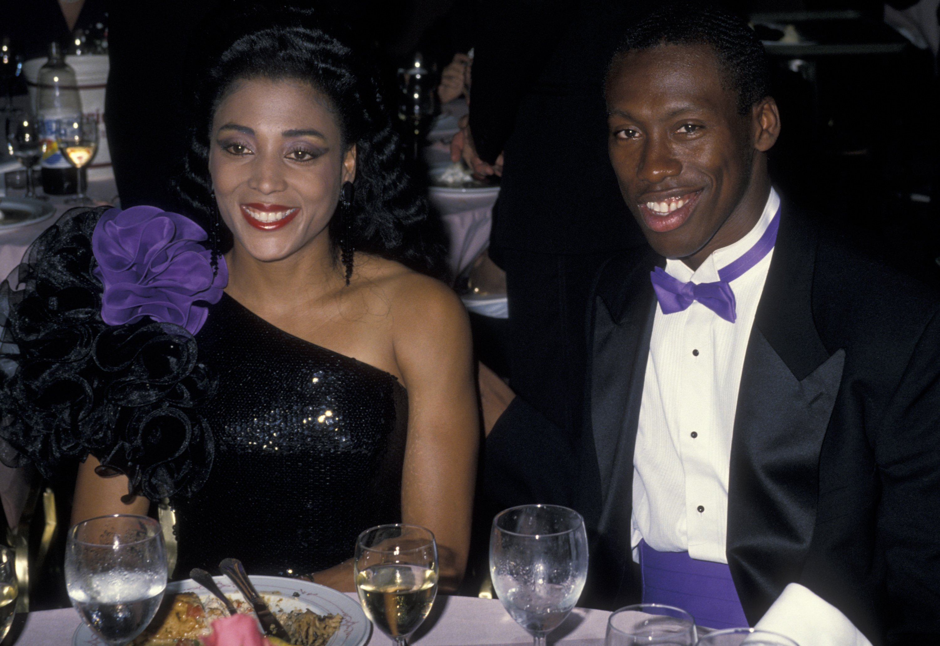 Florence Griffith-Joyner and Al Joyner at the 9th Annual Woman's Sports Foundation Awards on October 17, 1988 in New York City | Photo: Getty Images