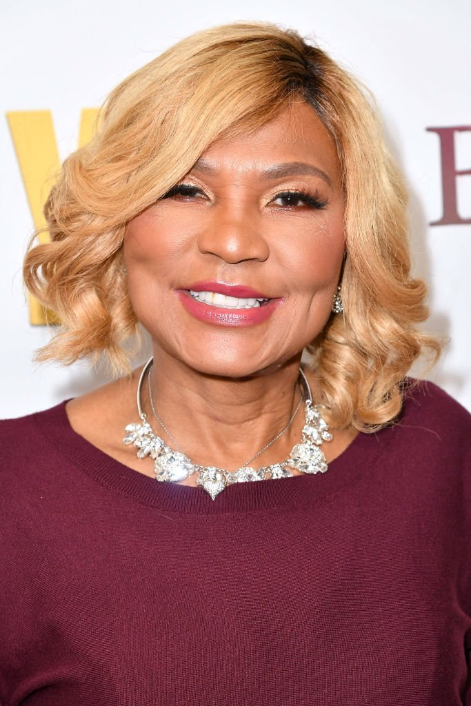 "Braxton matriarch Evelyn Braxton celebrating the premiere of ""Braxton Family Values"" in April 2019. 