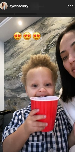 A screenshot of Ayesha Curry and her son Canon from Ayesha Curry's Instagram story | Photo: instagram.com/ayeshacurry