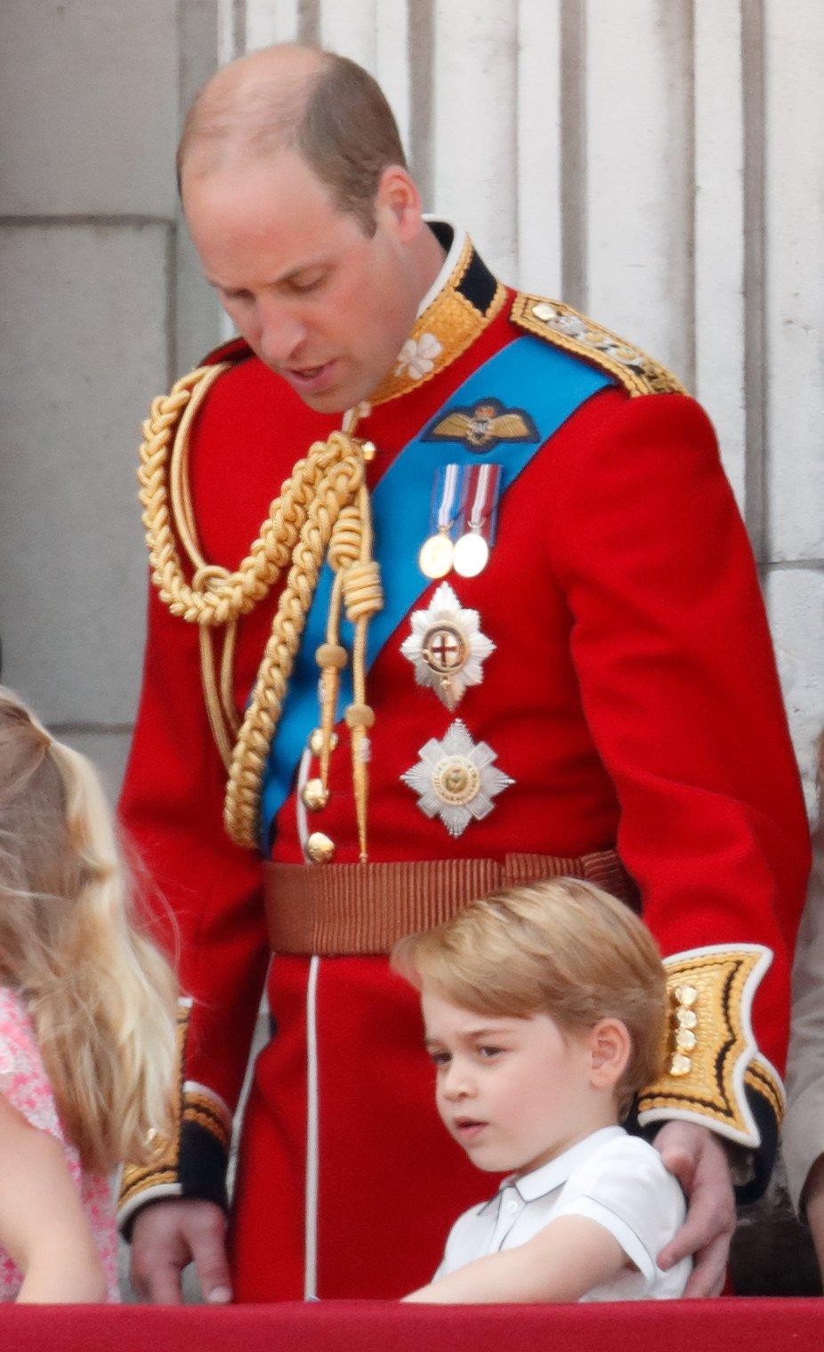 Prince William et Prince George de Cambridge à la Trooping The Color 2018 | Photo : Getty Images