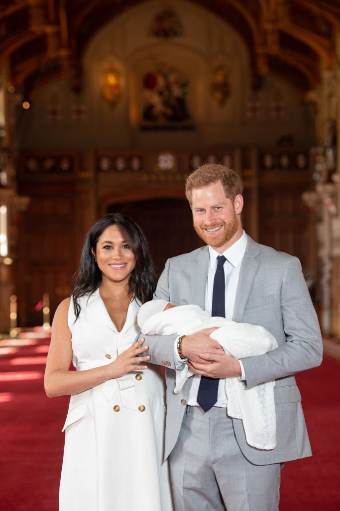 Prince Harry and Meghan Markle reveal their newborn to the world for the first time | Getty Images/ Global Images Ukraine