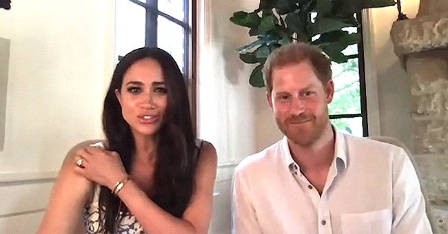 Meghan & Harry Give a Glimpse of Their New $14.7m Santa Barbara Mansion during a Virtual Call