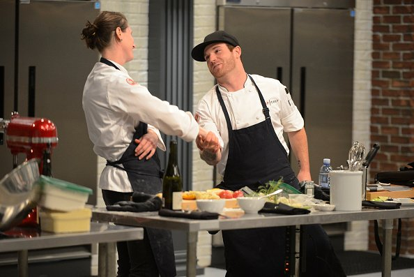 """Katie Weinner and Aaron Grissom during the Season 12 of """"Top Chef."""" 